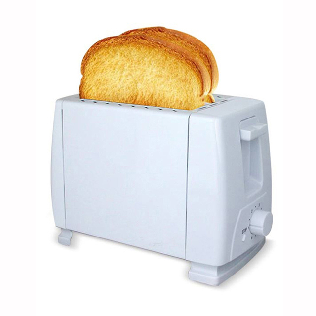 Electric White Plastic Toaster