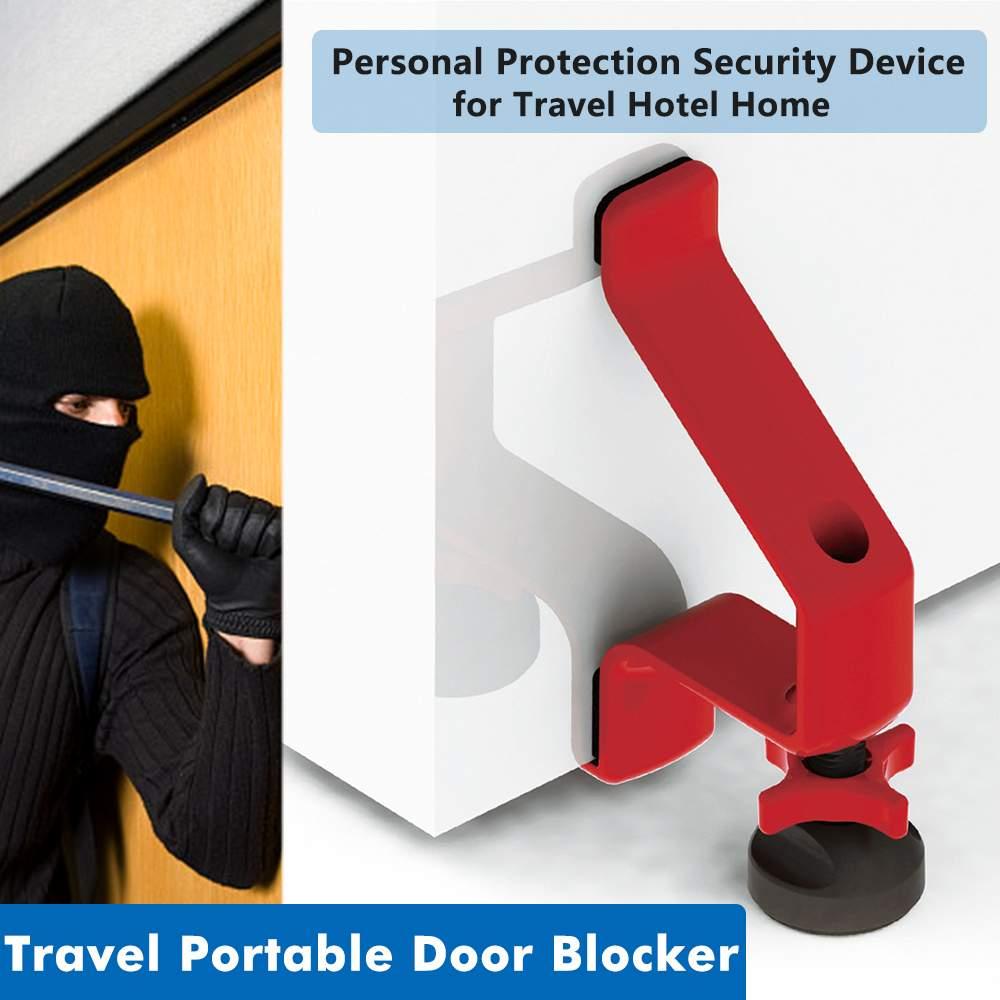 Accueil hôtel brouilleur de porte de haute qualité une serrure de porte Portable qui vous permet de verrouiller n'importe quel dispositif de sécurité Portable de porte
