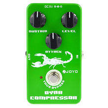 ABGZ-Joyo Jf-10 Dynamic Compressor Guitar AMP Effect Pedal True Bypass Portable Effect Pedal Guitar Parts Accessories цена