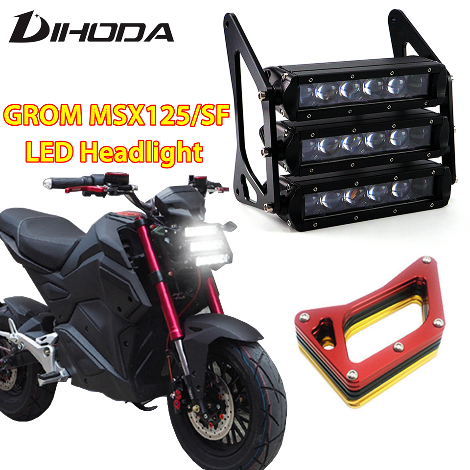 Motorcycle Headlights 90W 12V 3400LM LED Modified three layer Front Fork Light font b Lamp b