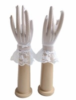 Beautiful Stunning Real Photo White Ivory Lace Finger Bridal Bride Glove Cheap Wedding Accessories Fashion 2018