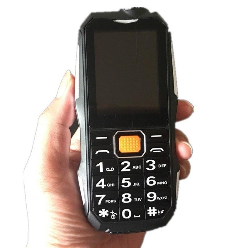 2018 Novo Banco de Potência S9 Câmera MP3 FM Lanterna Bluetooth Alto Falante À Prova de Choque de Telefone Dual SIM 2.4 de polegada de Telefone Celular