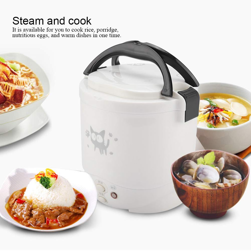 12/24V Mini Electric Rice Cooker Food Heater Steamer Soup Cooking Machine Portable with Nonstick Pot Home Travel Outdoor Truck12/24V Mini Electric Rice Cooker Food Heater Steamer Soup Cooking Machine Portable with Nonstick Pot Home Travel Outdoor Truck