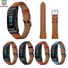 цены на For Huwei B5 Wrist Leather Strap Newest High Quality Watch Strap Band For Huawei B5 Smart Watch 18mm Watchbands  в интернет-магазинах