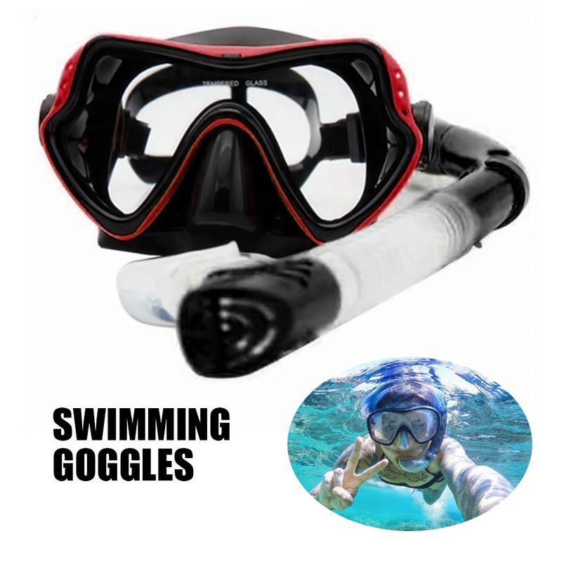 Industrioso Munti Colore Snorkel Set Anti Fog Pellicola Mascherina Di Immersione Subacquea Temperato Di Vetro Occhiali Di Protezione A Secco Snorkel Top Per Il Nuoto Lo Snorkeling