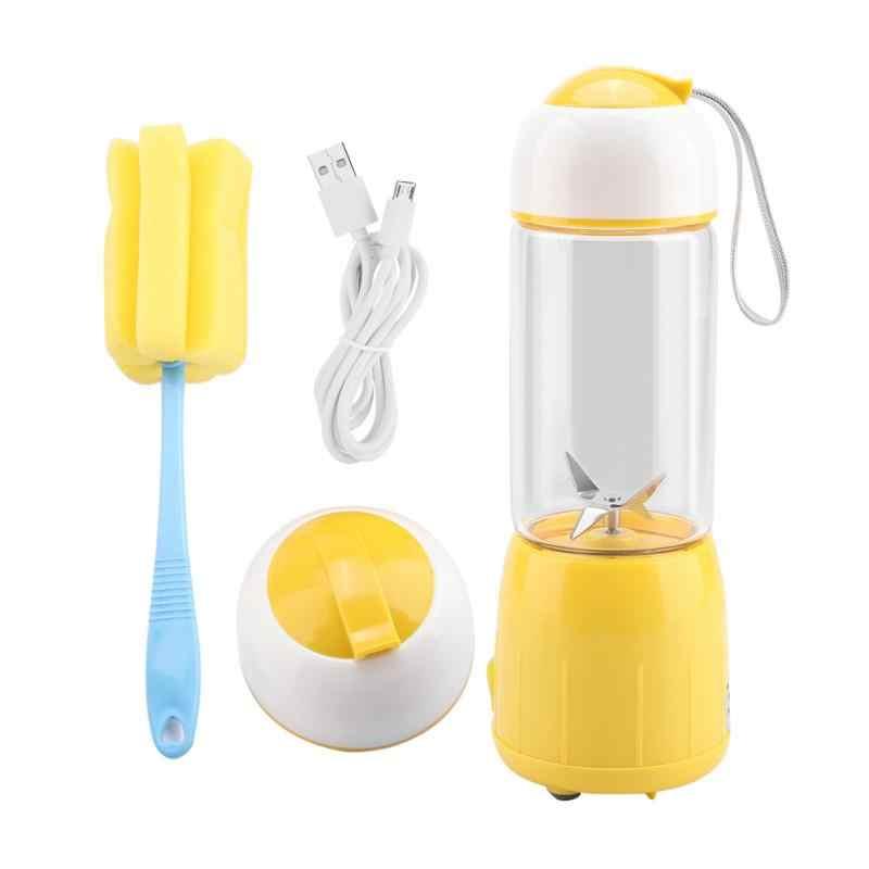 380 ml Recarregável USB Misturador Liquidificador Smoothie Maker para Uso Doméstico Portátil Mini Juicer Máquina de Suco Extrator De Suco De Pequenas