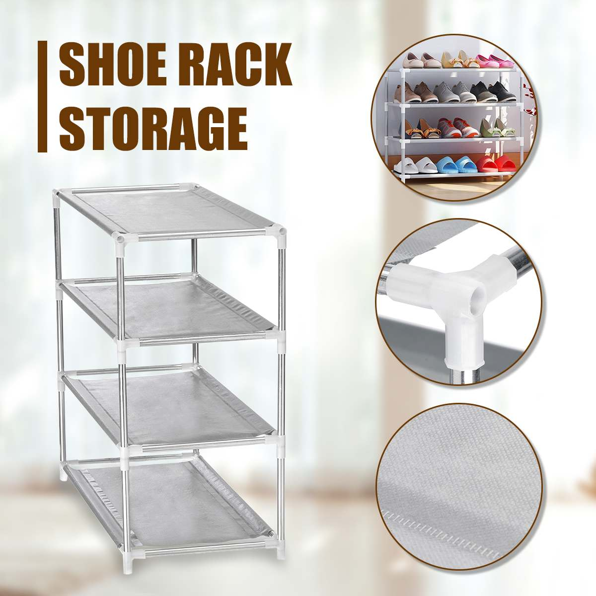 2/4/6/8/10 Tier Portable Shoes Display Storage Multi Layer Tier Optional Metal Shoe Rack Storage Organizer Stand Shelf Holder2/4/6/8/10 Tier Portable Shoes Display Storage Multi Layer Tier Optional Metal Shoe Rack Storage Organizer Stand Shelf Holder
