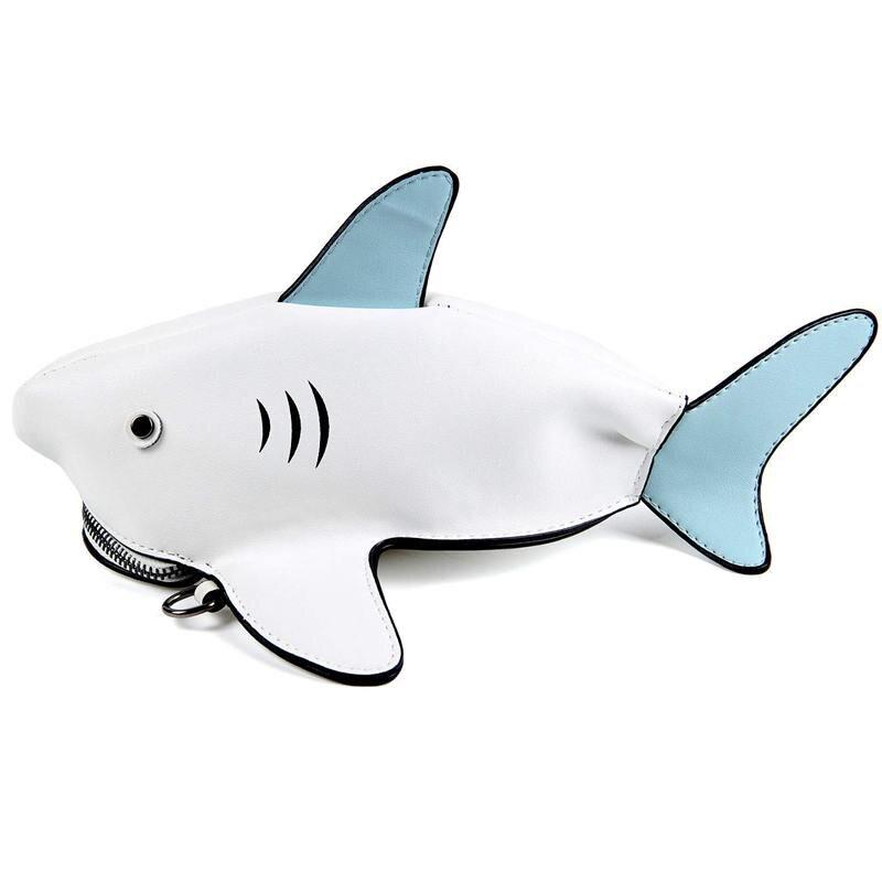 Zielsetzung Neue Einzigartige Tier Design Kreuz Körper Taschen Kupplung Geldbörsen Roman Shark Schulter Messenger Tasche Aromatischer Charakter Und Angenehmer Geschmack Herrenbekleidung & Zubehör