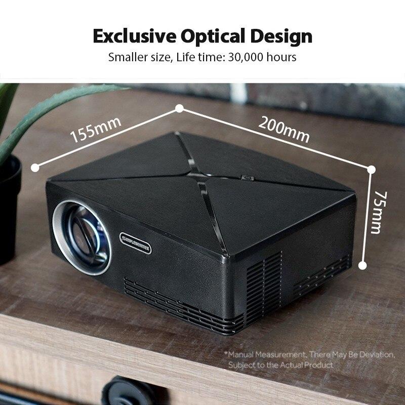 AUN C80 HD MINI Projektor, 1280x720 P, Video Beamer, 3D Projektor. Unterstützung 1080 P, HD IN, USB, (Optional C80 UP Android version WiFi) - 6