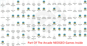 Image 3 - Retro Arcade video game console 8GB memory card with 1500 free games support TV Out Portable Gaming Console for ps1 for neogeo
