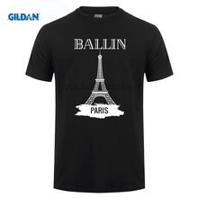 GILDAN Summer Fashion Men s Clothing O Neck Ballin La Tour Eiffel Graphic Unisex T shirt Print