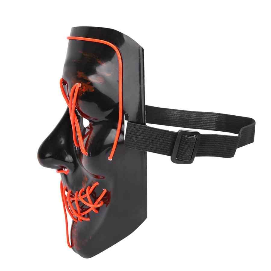 Хэллоуин пугающая Маска Дети светодиодный светить свечение маска светится в темноте карнавальные маски взрослых костюм для вечерние реквизит шоу Декор