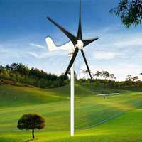 DC 12/24V 400W 5 Blades Wind Generator With Windmill Charge Controller WindTurbine Electrical Alternative Energy Generator