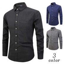 2018 Fashion Mens Shirts cotton Autumn Winter Clothing Slim Fit Clothes Male Long Sleeve Shirt for Men Camiseta Male Brand