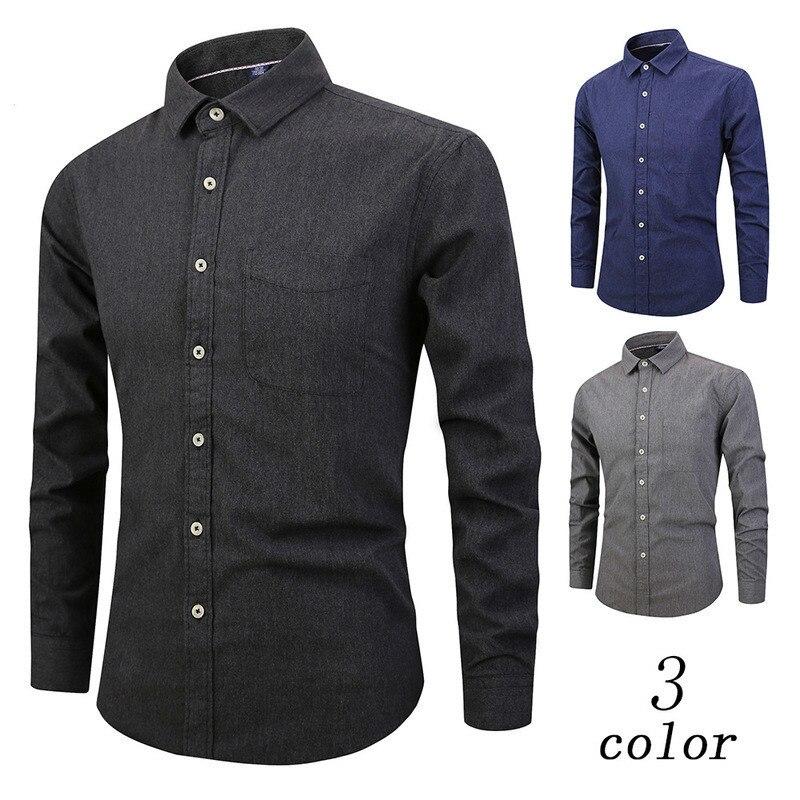 Comprar 2018 Moda Camisas Dos Homens Do Algodão Outono Inverno ... e647bbf19edc9