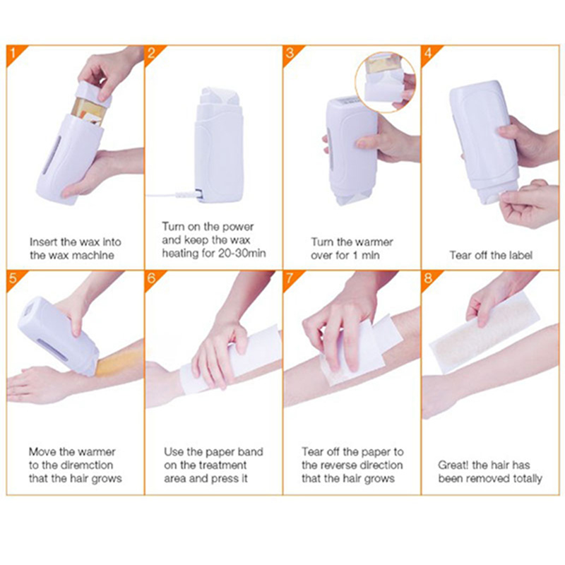 Image 5 - One Hand Portable Holding Beauty Hair Removal Device 100G Hair Removal Wax Hair Removal Wax Machine With Eu Plug-in Epilators from Home Appliances