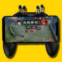 90 Degrees Rotate New Game Helper AK66 MEMO Mobile Phone Game Handle For PUBG Gamepad's Six Finger All In One Controller Game