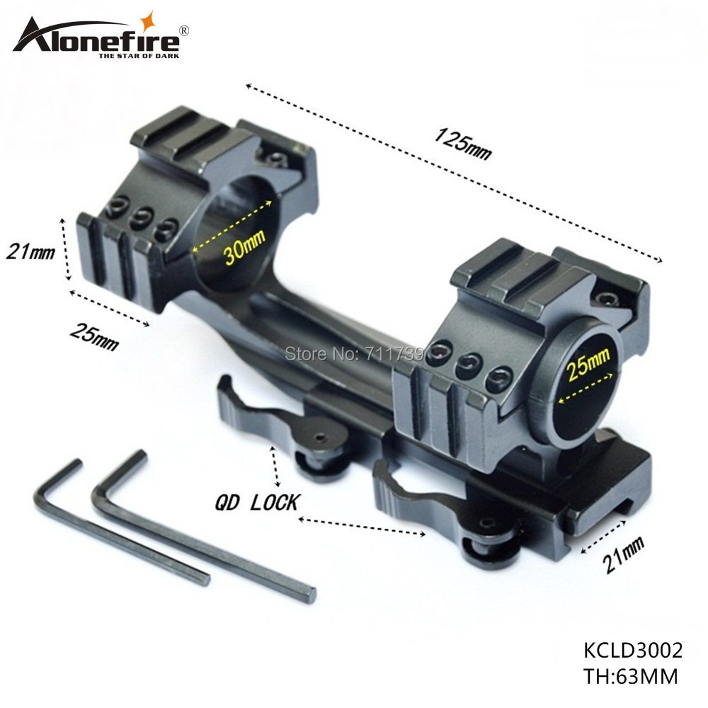 1PC KCLD3002 Quick Detachable 25/30mm Scope Ring Telescopic Sights Gun Mount 30mm RifleScope Ring Low Mounts Weaver Rail