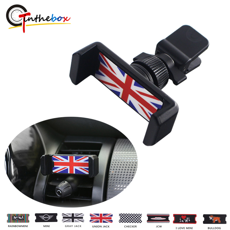(1)Car Air Vent Outlet Car mobile phone <font><b>holder</b></font> For <font><b>MINI</b></font> Countryman R55 R56 R60 R61 F54 F55 <font><b>F56</b></font> One+S JCW Car Styling Accessories image
