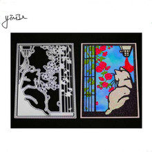 YINISE Metal Cutting Dies For Scrapbooking Stencils Cat Flower Cut SCRAPBOOK DIY Album Cards Decoration Embossing Craft Die Cuts