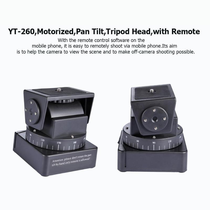 Caméra trépied tête RC YT 260 motorisé panoramique inclinaison avec télécommande pour photographie Studio caméra pour SONY QX10 QX30 QX100 QX1L-in Tête de trépied from Electronique    3