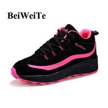 98b1fd39 2019 Для женщин кроссовки весной Лидер продаж дышащая Спортивная обувь  женская обувь, увеличивающая рост Уличная