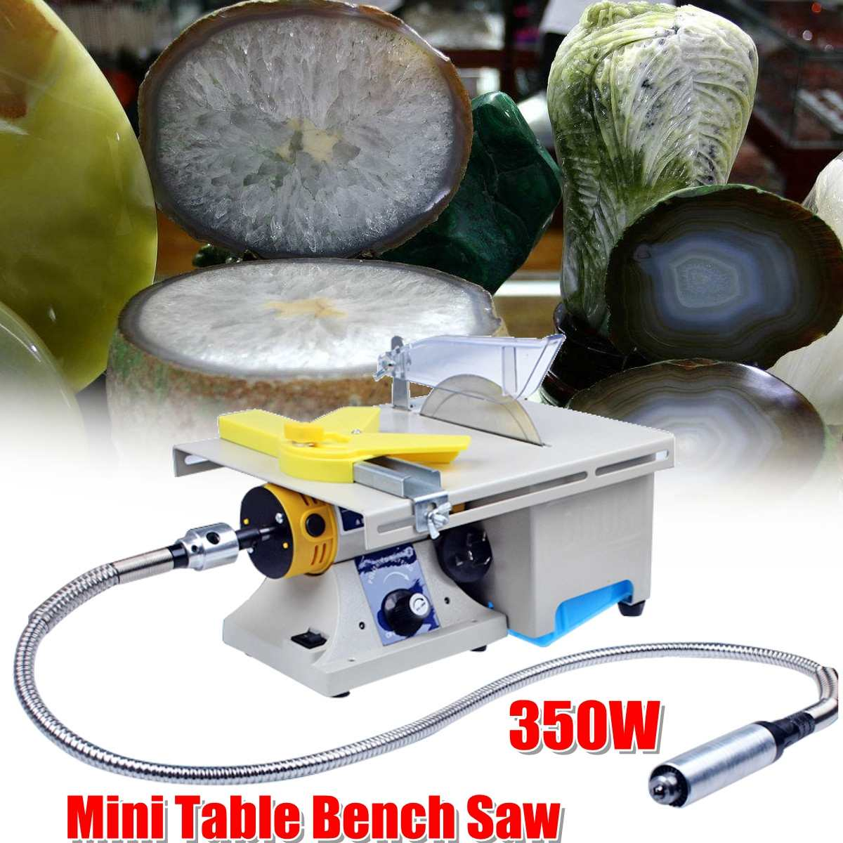 350W Mini Table Bench Saw Electric Grinding Engraving Machine Jade Wood Stone Polishing Router For Bodhi Ivory Carving Polisher