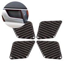 Para mercedes benz classe c w204 2005 2006 2007 2008 2009 2010 2011 2012 4 pçs de fibra carbono porta interior do carro alça tigela capa
