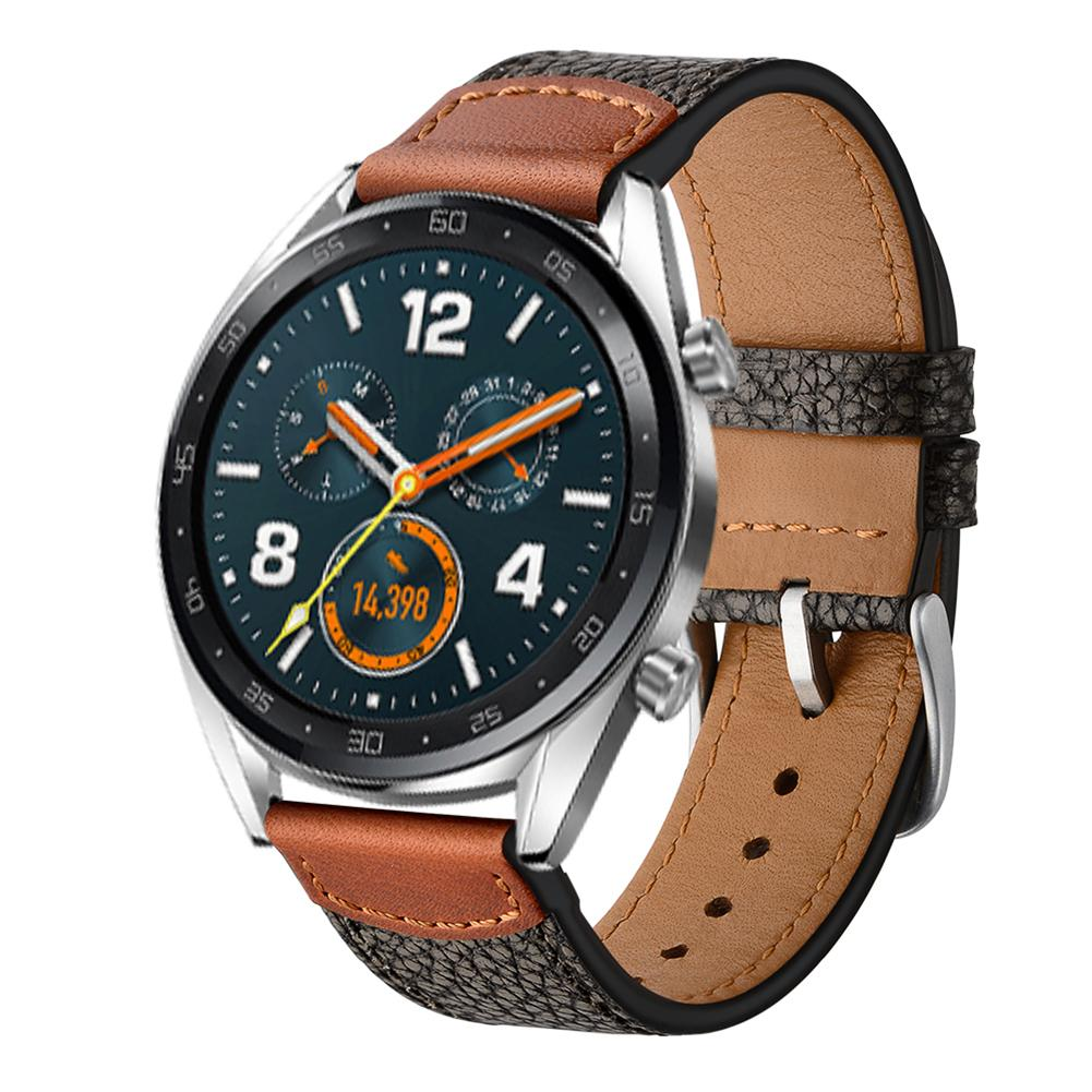 Knowledgeable 22mm Smart Sports Replacement Wristband Genuine Soft Watch Stone Pattern For Huawei Watch Gt/honor Watch Magic Leather Strap Home