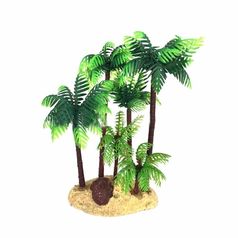 14cm Plastic Coconut Palm Tree Miniature Plant Bonsai Craft Micro Landscape Diy Decor Decorations Aliexpress