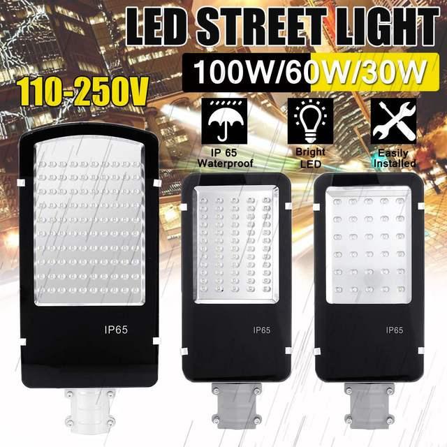 30/60/100W LED Solar Lamp Wall Street Light Waterproof Flood Security Garden Street Emergency Super Bright Outdoor Light