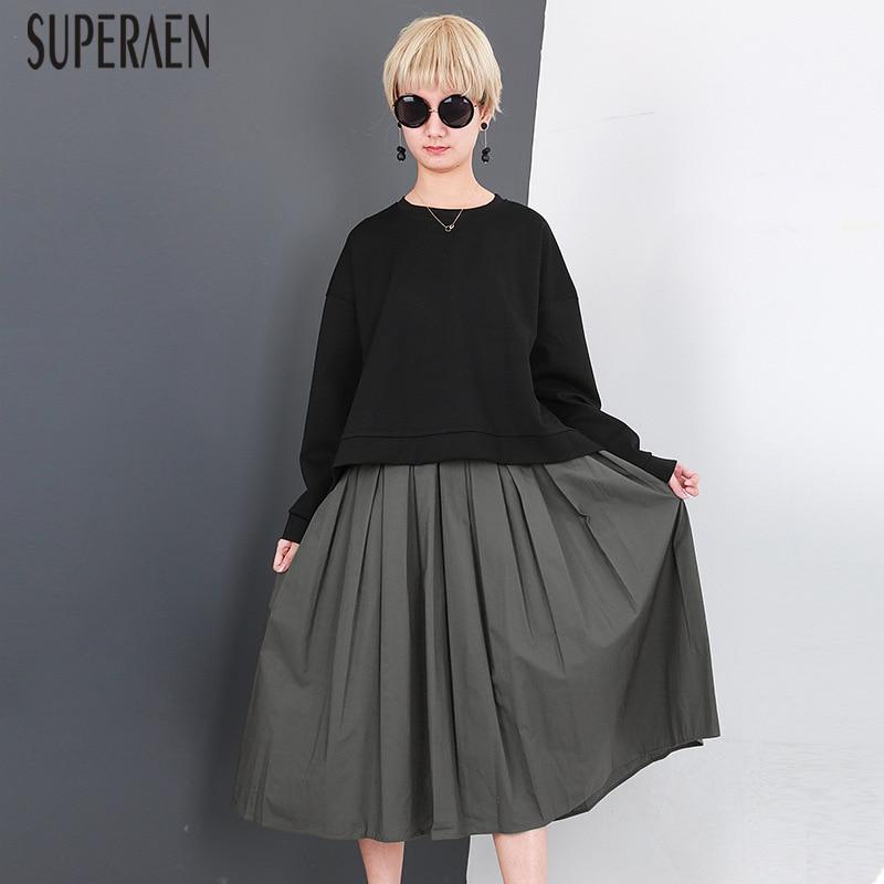 SuperAen Europe Fashion Women s Sets 2018 Spring New Hoody Wild Cotton Sweatshirts Casual Sleeveless Two