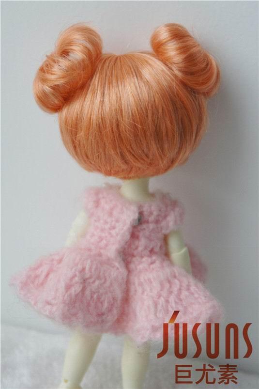 JD301 1/8 mohair sintético BJD muñeca peluca 5-6 pulgadas doble - Muñecas y peluches - foto 3