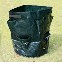 Adeeing 8 pocket Pe Cloth Plant Grow Bag Diy Vegetable Planting Container Bag Thicken Garden Pot Garden Supplies