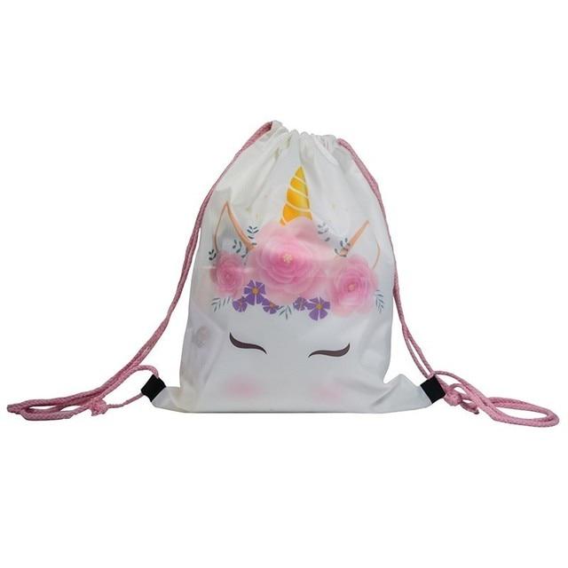 Bright Unicorn Round Beach Towel and Storage Bag