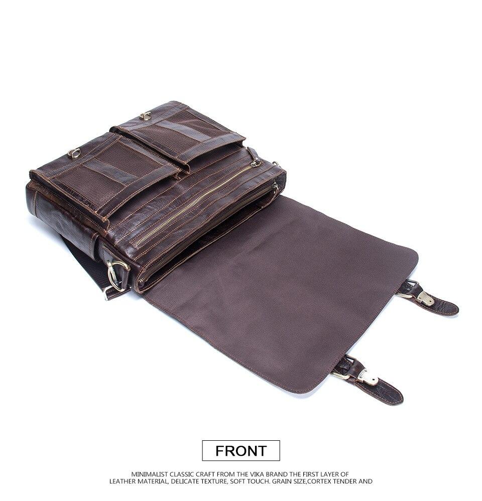 2019 affaires hommes en cuir véritable sac 14 ''ordinateur portable fourre-tout porte-documents pour hommes bandoulière sac à main homme Messenger sac mallca - 2