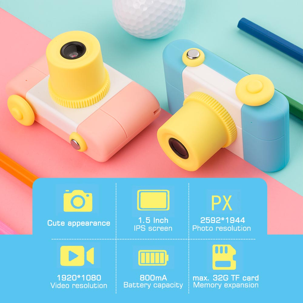Honest Portable Kids Digital Camera With 1.5 Inch Display Screen Multiple Languages Birthday Holiday Gift Toy For Children Boys Girls