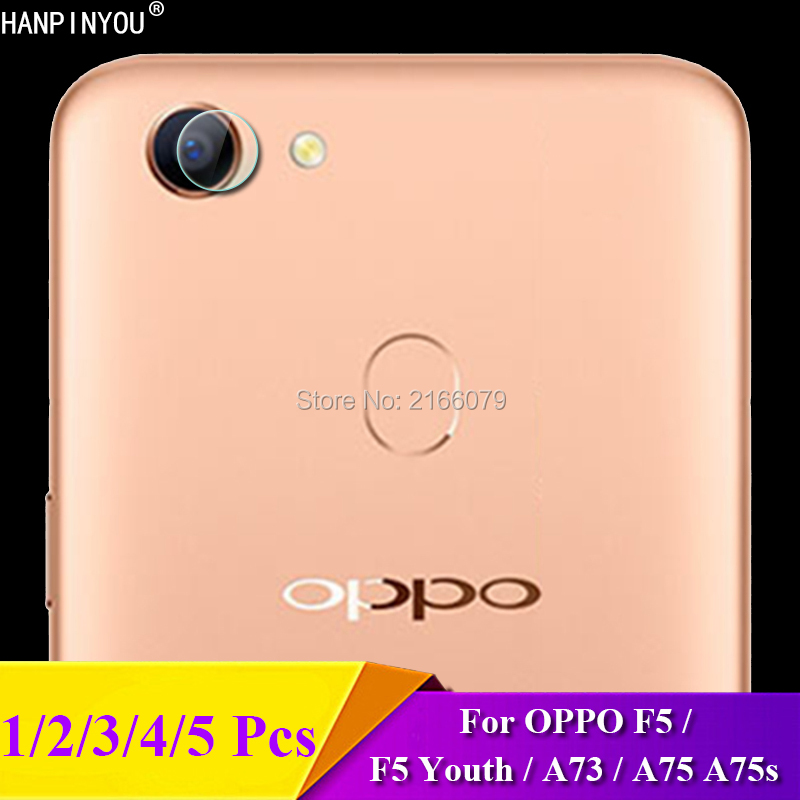 1/2/3/4/5 Pcs For OPPO <font><b>F5</b></font> / <font><b>F5</b></font> Youth / A73 / A75 A75s Rear Camera Lens Protective Protector Cover Soft Tempered Glass Film Guard image