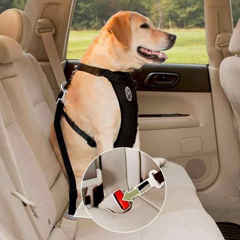Baru Bernapas Mesh Anjing Harness Tali dengan Tali Disesuaikan Hewan Peliharaan dengan Mobil Otomotif Kursi Safety Belt Anjing Dada Tali