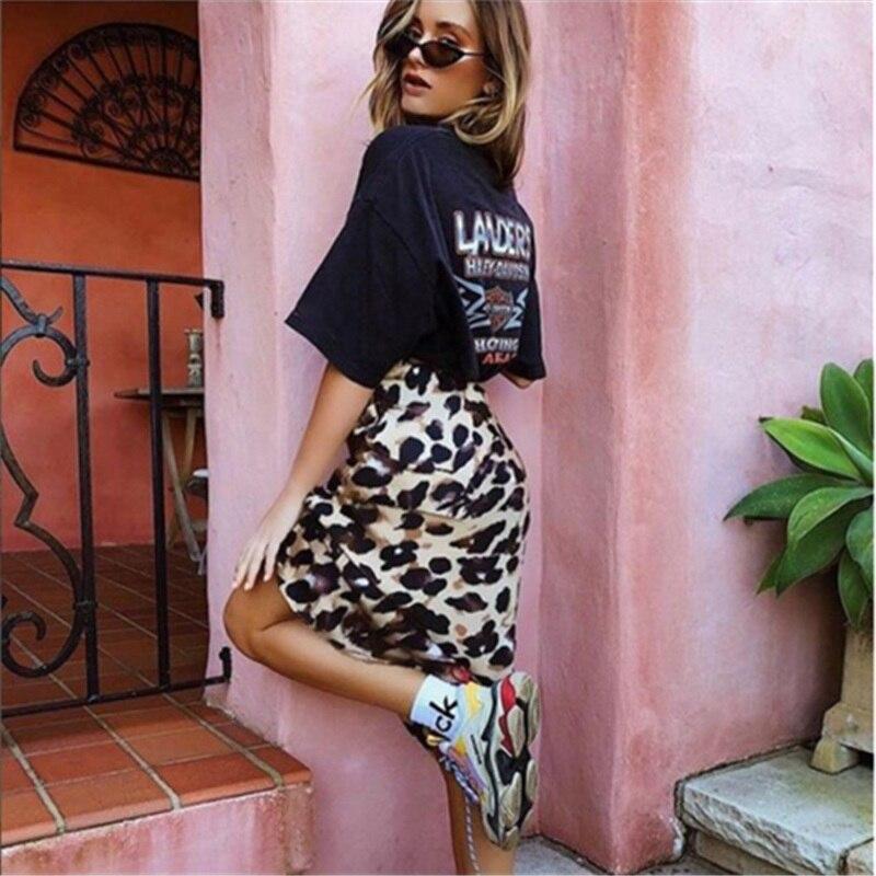Sexy Women Skirt Hot Fashion Women Leopard Print High Waist Skirt Ladies Evening Party Mini Skirts Lace Up Ruffles Skirts