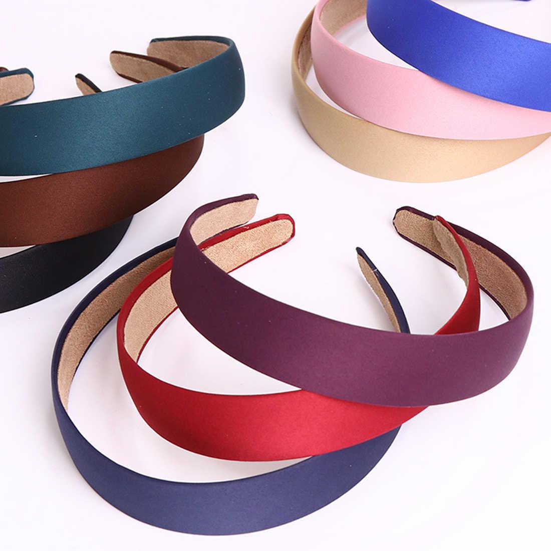 1 шт., одноцветная модная женская Брезентовая широкая повязка на голову, повязка на голову, повязки на голову, изысканные обручи для волос