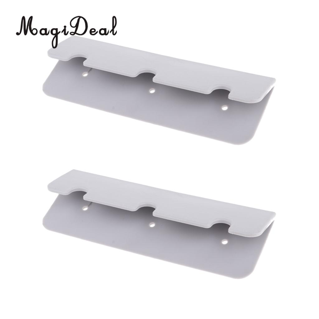 2Pcs Gray PVC Boat Seat Hook Clip Brackets For Inflatable Boat Rib Dinghy Kayak Canoe Marine Boat Accessories Dropshipping