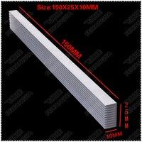 (Frete grátis) 2 pcs 150x25x10mm dissipadores De calor de Alumínio  radiador eletrônico  o resfriamento do bloco de alumínio