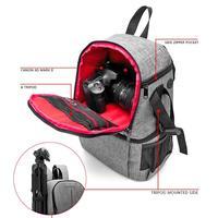 Photo Camera DSLR Video Waterprpof Oxford Fabric Soft Padded Shoulders Backpack SLR Bag Case for Digital Camera Lens Tripod
