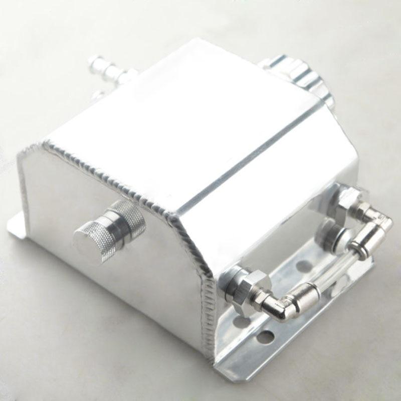 1 set universel 1L aluminium liquide de refroidissement radiateur trop plein récupération bouteille de réservoir d'eau - 2