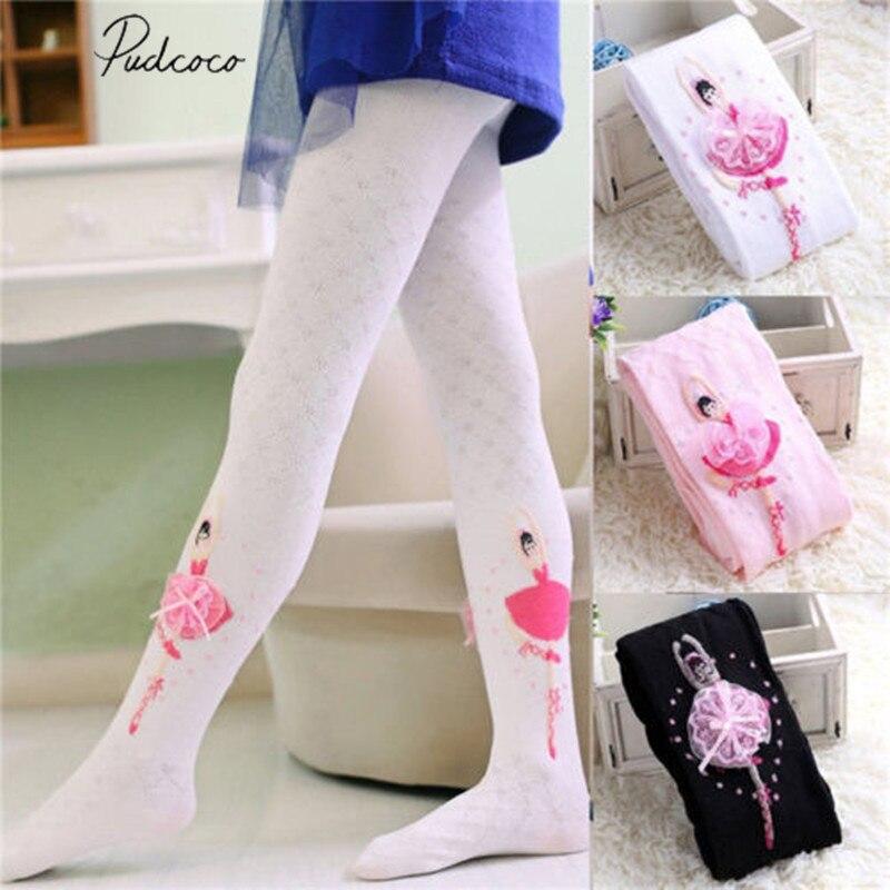 Kids Girls Cartoon Animal Tights Stockings Elastic Slim Pantyhose Ballet Pants