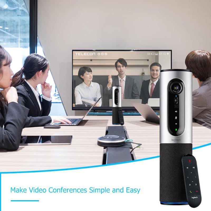 Logitech CC2000e haut-parleur vidéo conférence Webcam connecter Full HD 1080 P 30FPS USB filaire Webcams avec télécommande - 4