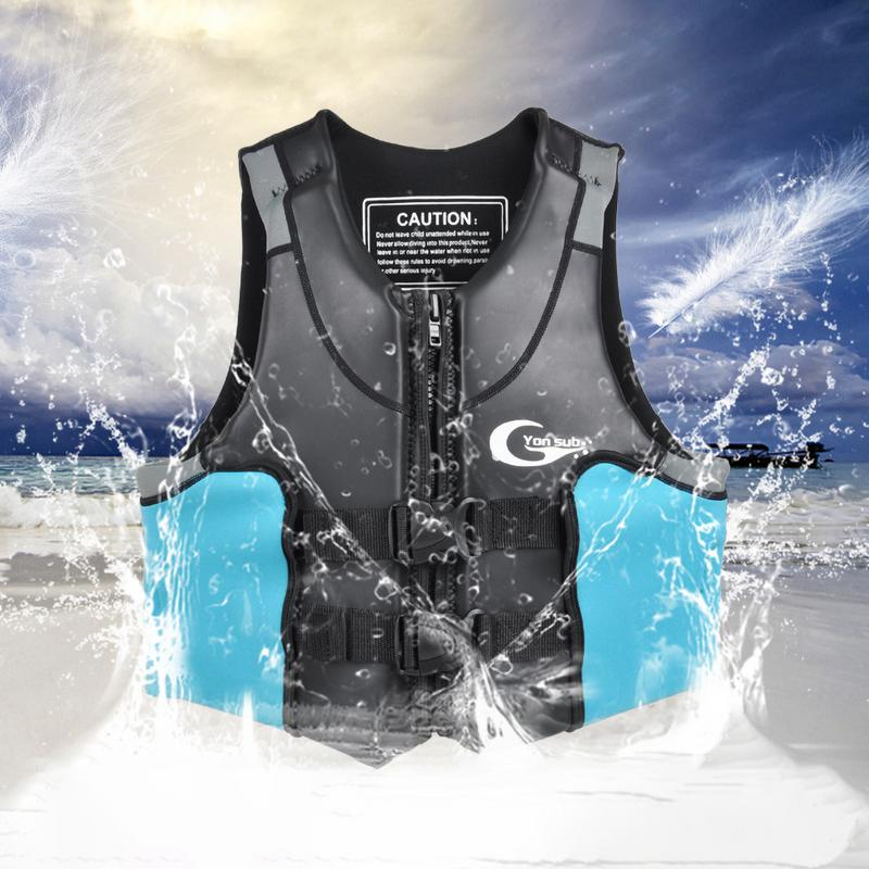 Thickened High Buoyancy Adult Life saving Vest V Back Neoprene Professional Water Sports Life Jacket