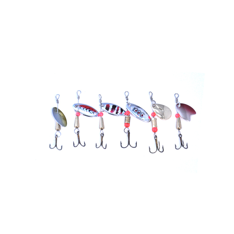 Image 2 - OLOEY Fishing Spoon Lures Spinner Spoon Bait Fishing  Spoons Metal Lure Rotating  Pesca Peche Treble Tackle-in Fishing Lures from Sports & Entertainment