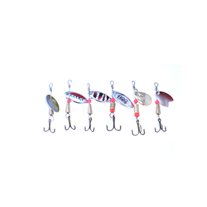 Image 2 - OLOEY Fishing Spoon Lures Spinner Spoon Bait Fishing  Spoons Metal Lure Rotating  Pesca Peche Treble Tackle